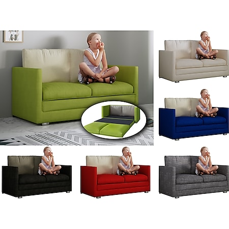 "VCM 2er Jugendsofa Schlafsofa Sofabett Couch Sofa mit Schlaffunktion ""Andalo"" - Bild 1"