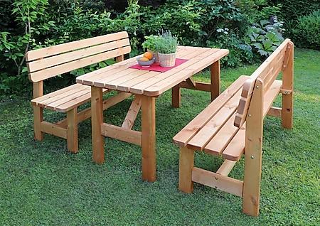 Promadino Holz-Garnitur Summer honigbraun - Bild 1