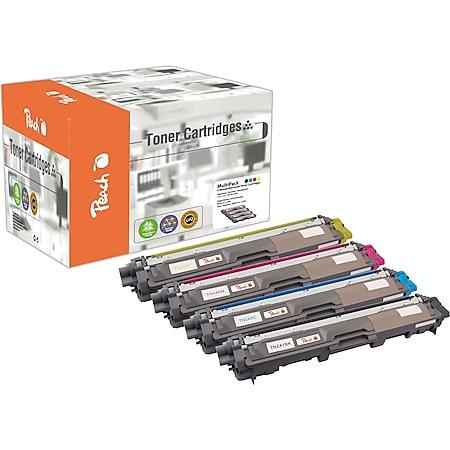Peach Spar Pack Tonermodule kompatibel zu Brother TN-241BK, TN-245 (wiederaufbereitet) - Bild 1