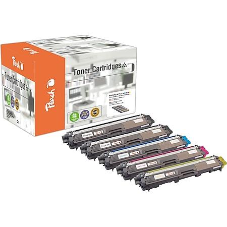 Peach Spar Pack Plus Tonermodule kompatibel zu Brother TN-241bk, TN-245 (wiederaufbereitet) - Bild 1