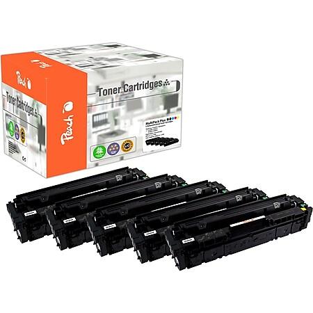 Peach Spar Pack Plus Tonermodule kompatibel zu HP No. 201X, CF400X*2, CF401X, CF402X, CF403X (wiederaufbereitet) - Bild 1