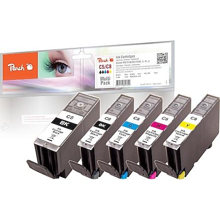 Peach Spar Pack Tintenpatronen kompatibel zu Canon PGI-5, CLI-8 - Bild 1