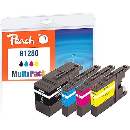 Peach Spar Pack Tintenpatronen, XL-Füllung, kompatibel zu Brother LC-1280XLVALBP (wiederaufbereitet) - Bild 1