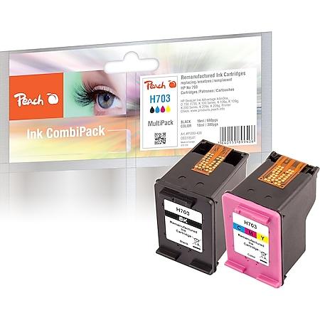 Peach Spar Pack Druckköpfe kompatibel zu HP No. 703, CD887AE, CD888AE (wiederaufbereitet) - Bild 1