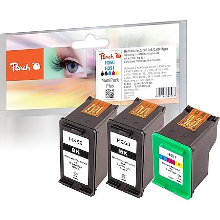 Peach Spar Pack Plus Druckköpfe kompatibel zu HP No. 350*2, No. 351, SD412EE, CB335EE*2, CB337EE (wiederaufbereitet) - Bild 1