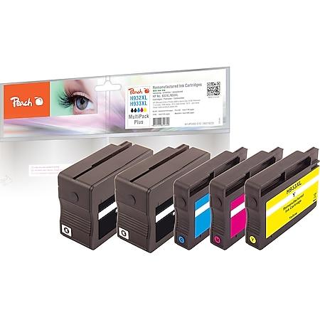 Peach Spar Pack Plus Tintenpatronen kompatibel zu HP No. 932XL*2, No. 933XL, C2P42A (wiederaufbereitet) - Bild 1