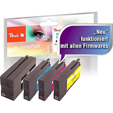 Peach Spar Pack Tintenpatronen kompatibel zu HP No. 950, No. 951, CN049A, CN050A, CN051A, CN052A (wiederaufbereitet) - Bild 1