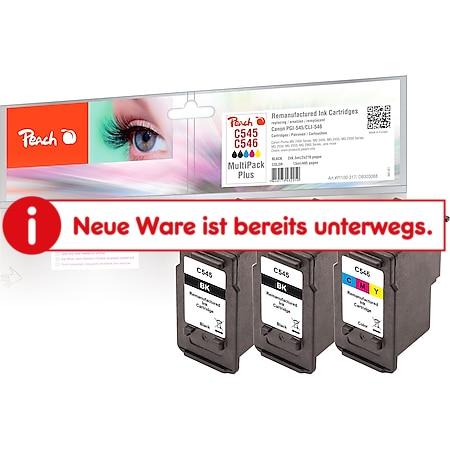 Peach Spar Pack Tintenpatronen kompatibel zu Canon PG-545*2, CL-546, 8287B001*2, 8289B001 (wiederaufbereitet) - Bild 1