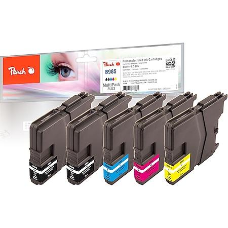 Peach Spar Pack Plus Tintenpatronen kompatibel zu Brother LC-985 (wiederaufbereitet) - Bild 1