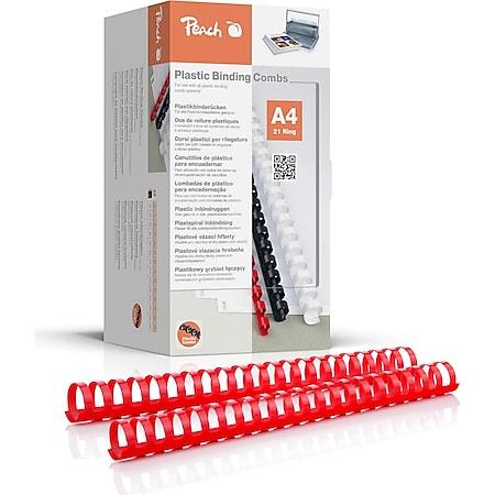 Peach Binderücken 28mm, für 270 A4, rot, 50 Stück, PB428-03 - Bild 1