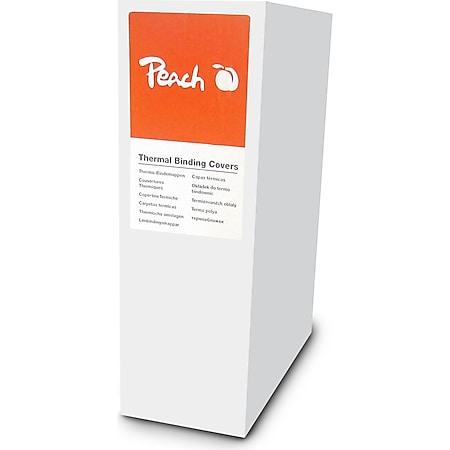 Peach Thermobindemappe weiss für je 30 Blätter (A4, 80g/m2), 100 Stück - PBT406-03 - Bild 1