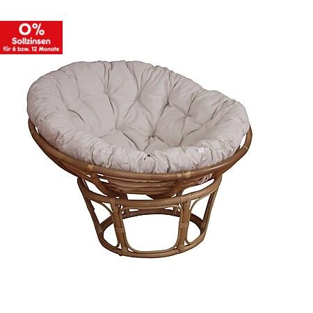 möbel direkt online Papasansessel, Durchmesser 80 cm Sessel mit Kissen - Bild 1