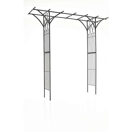 CLP Rosenbogen Milano | Rankhilfe Aus Eisen | Romantischer Rankenbogen mit Pergoladach... schwarz - Bild 1