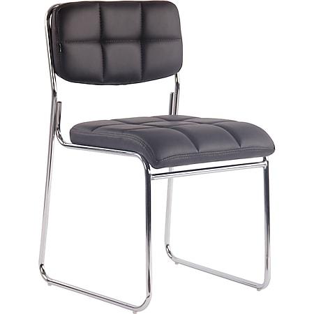 CLP Besucherstuhl GERA mit hochwertiger Polsterung und Kunstlederbezug I Stapelstuhl mit gepolsterter Sitzfläche und Rückenlehne... braun - Bild 1