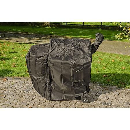 CLP BBQ-Smoker Abdeckhaube I Wetterbeständige Grill-Abdeckung I In verschiedenen Größen erhältlich... schwarz - Bild 1