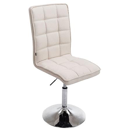 CLP Esszimmerstuhl PEKING V2 mit hochwertiger Polsterung und Stoffbezug I Drehbarer und höhenverstellbarer Lehnstuhl... creme - Bild 1