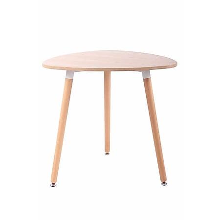 CLP Küchentisch ABENRA I Esstisch Mit MDF Tischplatte I Bistrotisch Mit Buchenholzgestell... natura, 80 cm - Bild 1