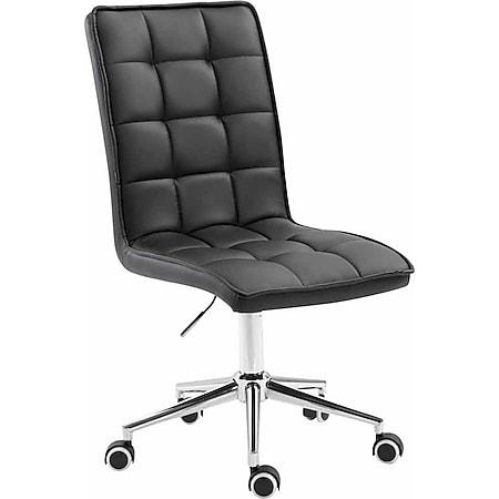 CLP Arbeitshocker PEKING V2 mit Kunstlederbezug   Schreibtischstuhl mit Leichtlaufrollen   Höhenverstellbarer Drehstuhl... schwarz - Bild 1