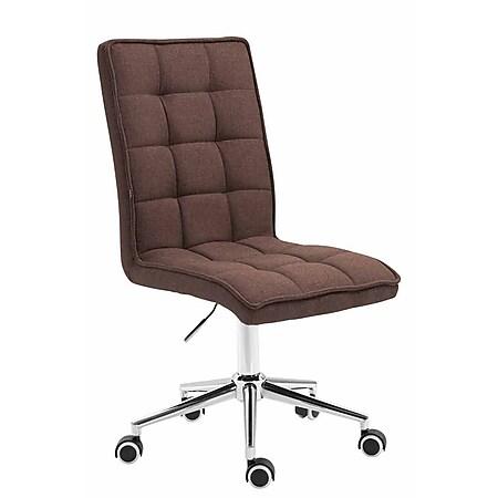 CLP Arbeitshocker PEKING V2 mit hochwertiger Polsterung und Stoffbezug   Schreibtischstuhl mit Leichtlaufrollen   Höhenverstellbarer Drehstuhl... braun - Bild 1