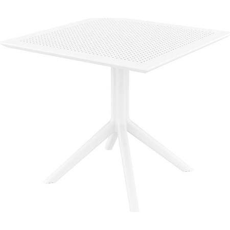 CLP Tisch SKY  80 x 80 cm I Wetterfester Gartentisch aus UV-beständigem Kunststoff I witterungsbeständiger Tisch... weiß - Bild 1