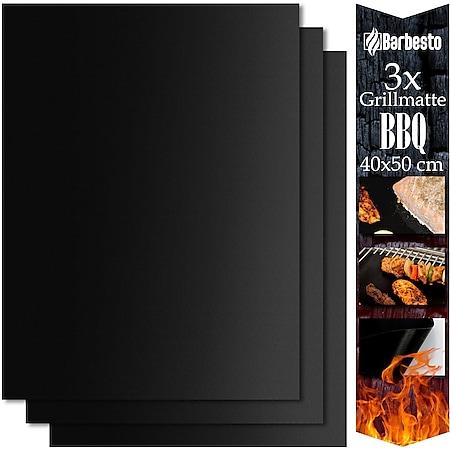 CLP Grillmatte BBQ I Für Gasgrill, Kohlegrill, Elektrogrill & Backofen... 40x50 cm (3er Set) - Bild 1