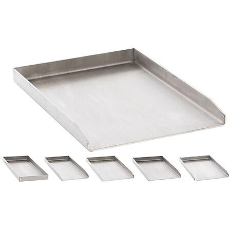 CLP Edelstahl Grillplatte für den Gasgrill, Kohlegrill und den Elektrogrill I Bratplatte mit glatter Oberfläche... edelstahl, 30x45x3.6 cm - Bild 1
