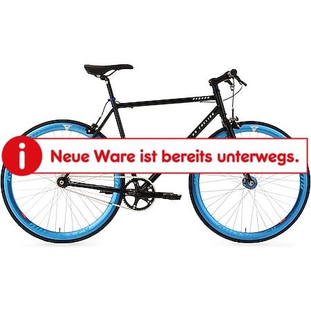 KS Cycling Fixie Fitnessbike 28 Zoll Pegado schwarz-blau - Bild 1