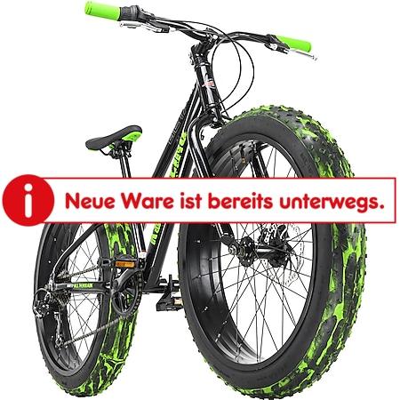 KS Cycling Jugendfahrrad Fatbike 24'' Crusher Schwarz RH 30 cm - Bild 1