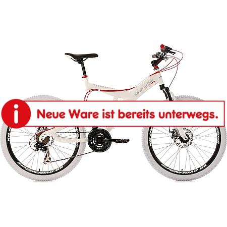 KS Cycling Fully Mountainbike 21 Gänge Topspin 26 Zoll weiß-rot - Bild 1