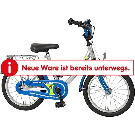 Bachtenkirch Kinderfahrrad Polizei 16 Zoll silber-blau - Bild 1