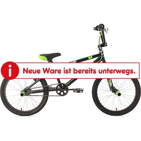 KS Cycling 20 Zoll Freestyle BMX Hedonic Schwarz-Grün - Bild 1