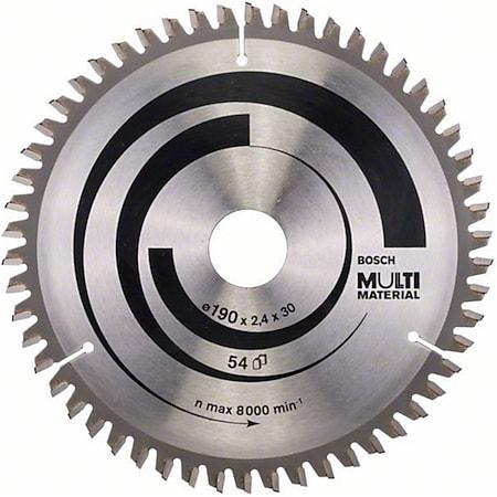 Bosch Kreissägeblatt Multi Material 190x30x2,4mm Z54TR-F  2608640509 - Bild 1
