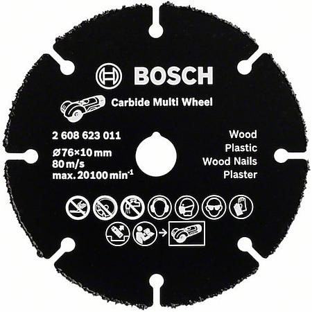 Bosch HM-Trennscheibe Multi Wheel 76x1,0x10 mm  2608623011 - Bild 1
