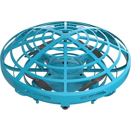 MYFIRST Mini Drohne mit Handsteuerung | echte 5 Infrarotsensoren | 360 Grad Drehung | Fluggeschwindigkeitsmodi | Luftschwebedrohne mit Bounce-Technologie | kindersicheres Material | mit Standard Mini USB Ladekabel | blau - Bild 1