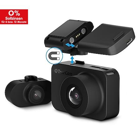 TRUECAM M7 Dual Dashcam Autokamera mit Heckkamera FullHD GPS Radarwarnung - Bild 1