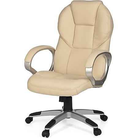 AMSTYLE Bürostuhl Matera Bezug Kunstleder Schreibtischstuhl Design Chefsessel Drehstuhl mit X-XL Polsterung - Bild 1