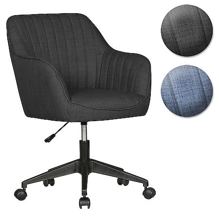 AMSTYLE Schreibtischstuhl MARA Stoff Drehstuhl mit Lehne 120 kg Bürostuhl Drehsessel mit Rollen - Bild 1