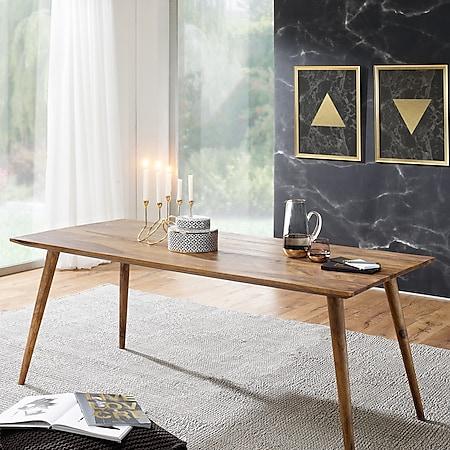 Wohnling Esszimmertisch REPA in 3 verschiedenen Größen Sheesham Massivholz Landhaus Esstisch Tisch Esszimmer - Bild 1