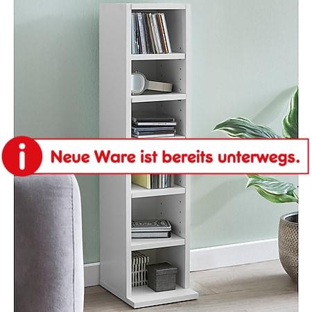 Wohnling Bücherregal WL5.336 21x91x25,5 cm mit 6 Fächern Standregal Regal Schmales Wandregal Nischenregal - Bild 1