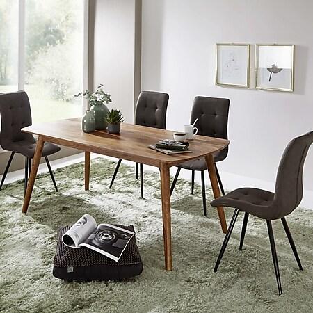 Wohnling Esszimmertisch Sheesham Massivholz in 4 verschiedenen Größen Küchentisch Holztisch Speisetisch - Bild 1