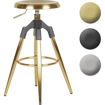Wohnling Barhocker Metall 72-80 cm | Design Barstuhl 100 kg Maximalbelastbarkeit | Tresenhocker Industrial | Tresenstuhl ohne Lehne - Bild 1