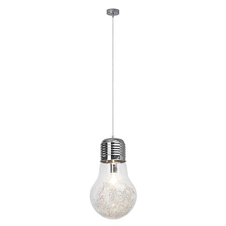 Bulb Pendelleuchte 27cm chrom/transparent - Bild 1