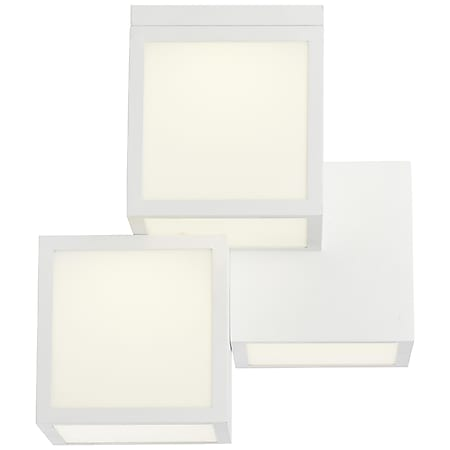 Cubix LED Deckenleuchte 3flg weiß - Bild 1