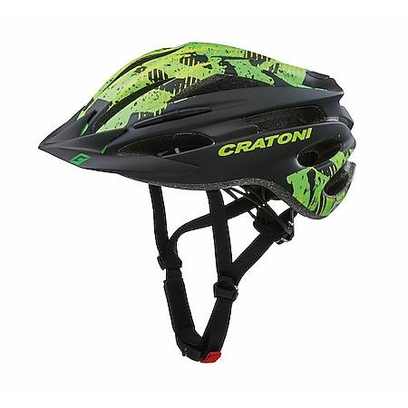 MTB Fahrradhelm Pacer Junior schwarz/lime matt - Bild 1