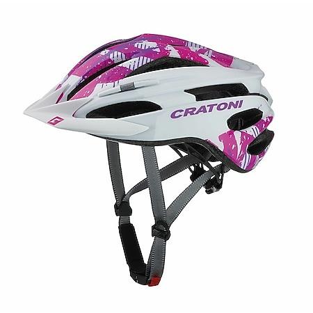 MTB Fahrradhelm Pacer Junior weiß/pink glanz - Bild 1