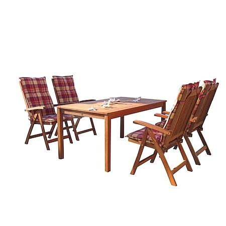 Grasekamp Gartenmöbel 9tlg Sunshine mit 160cm  Tisch Balkonmöbel Sitzgruppe Santos - Bild 1