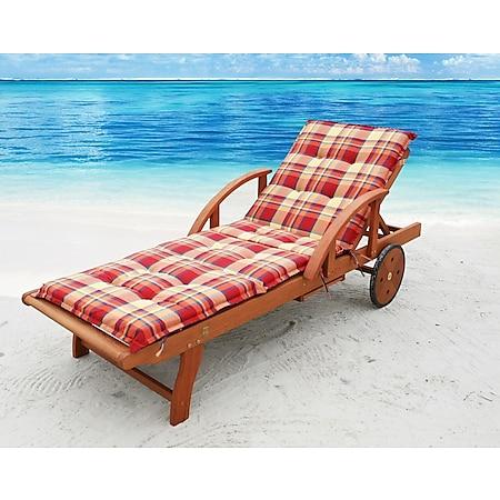Grasekamp Auflage Sommerfrisch für Gartenliege  Liegestuhl Sonnenliege Relaxliege - Bild 1