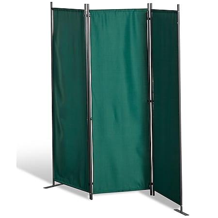 Grasekamp Stellwand 165x170 cm dreiteilig - grün -  Paravent Raumteiler Trennwand  Sichtschutz - Bild 1