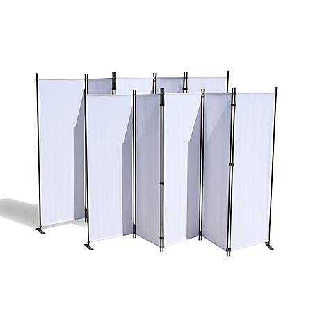 Grasekamp 2 Stück Paravent 5 teilig Weiß  Raumteiler Trennwand Sichtschutz - Bild 1