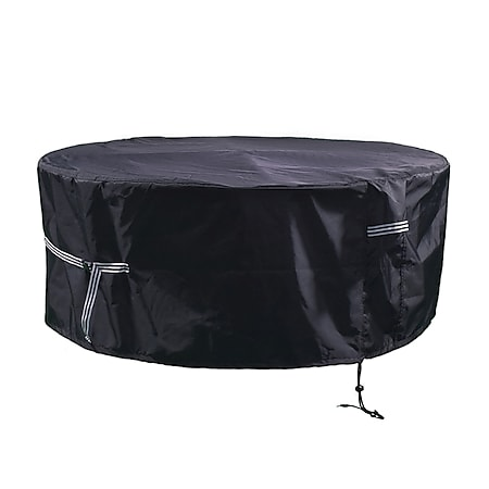 Grasekamp Black Premium Gartensitzgruppenhülle Ø  200x85cm / garden dining set cover /  atmungsaktiv / breathable - Bild 1
